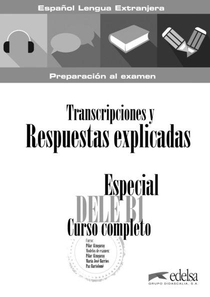 ESPECIAL DELE B1 - LIBRO DE SOLUCIONES.