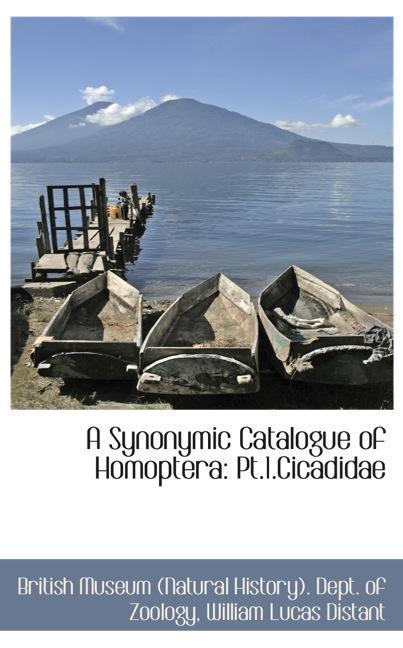 A Synonymic Catalogue of Homoptera: Pt.1.Cicadidae
