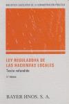 LEY REGULADORA DE LAS HACIENDAS LOCALES: TEXTO REFUNDIDO