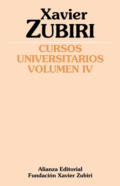 CURSOS UNIVERSITARIOS. VOLUMEN IV (1934-1935).