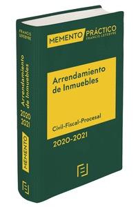 MEMENTO ARRENDAMIENTO DE INMUEBLES 2020-2021