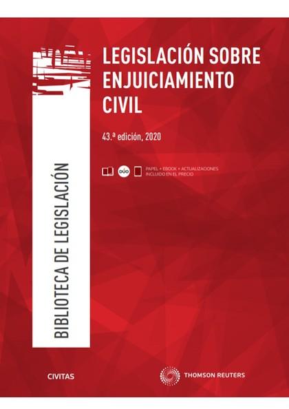 LEGISLACIÓN SOBRE ENJUICIAMIENTO CIVIL 2020.