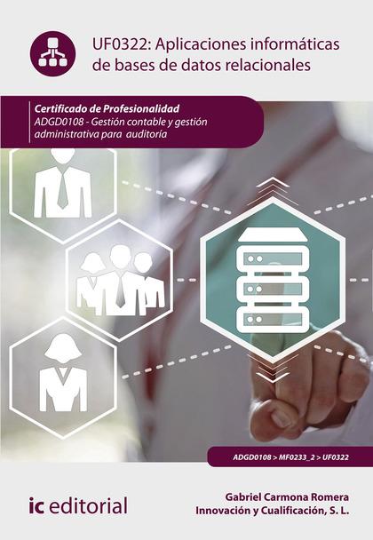 APLICACIONES INFORMÁTICAS DE BASES DE DATOS RELACIONALES. ADGD0108 - GESTIÓN CON.