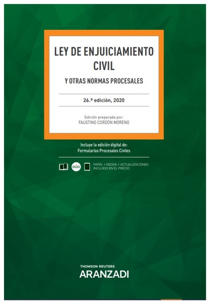 LEY DE ENJUICIAMIENTO CIVIL 26ª ED. 2020.