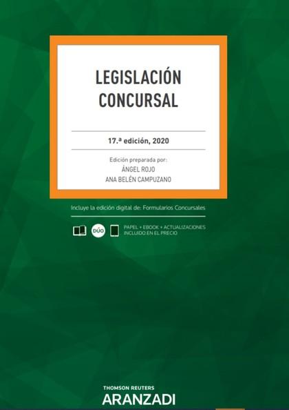 LEGISLACIÓN CONCURSAL 17ª ED. 2020.
