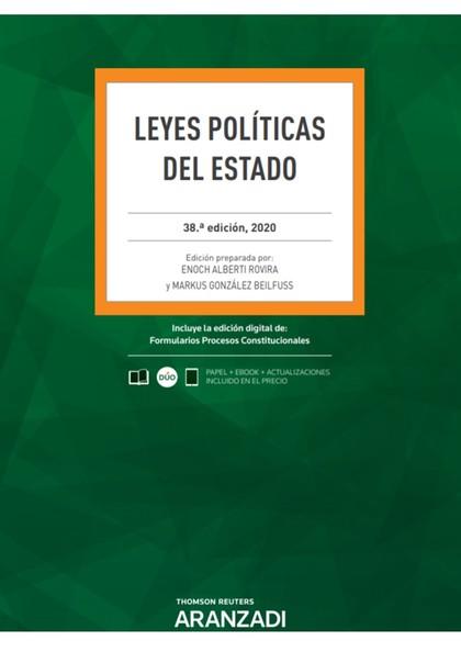 LEYES POLÍTICAS DEL ESTADO 38ª ED. 2020.