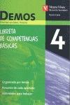 DEMOS 4 LIBRETA DE COMPETENCIAS BASICAS. CIENCIAS SOCIALES,.