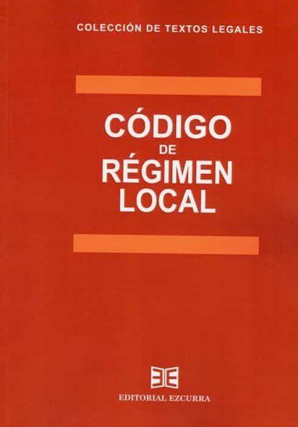 CÓDIGO DE RÉGIMEN LOCAL 2020.