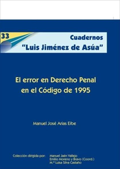 El error en Derecho penal en el Código de 1995