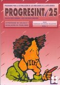 PROGRESINT. 25. ESTRATEGIAS DE CALCULO Y RESOLUCION DE PROBLEMAS.