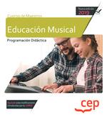 CUERPO MAESTROS EDUCACION MUSICAL PROGRAMACION DIDACTICA.