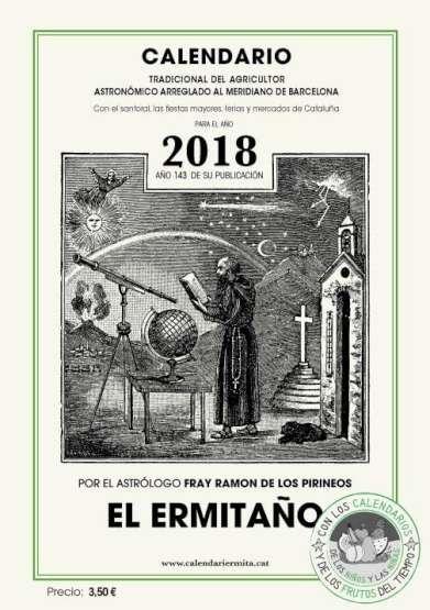 CALENDARIO ERMITAÑO 2018.