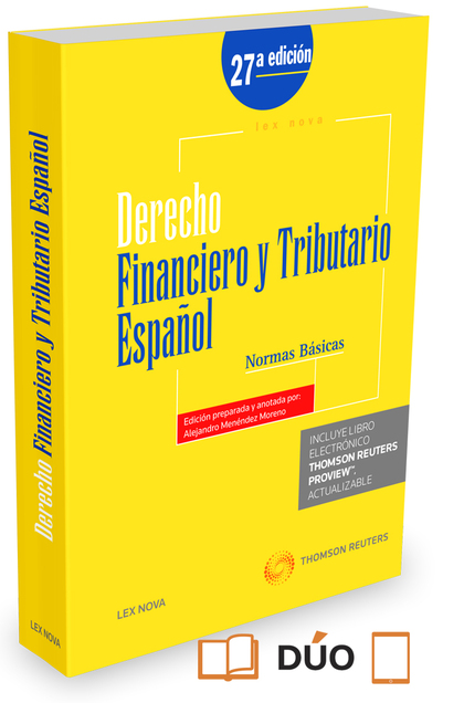 DERECHO FINANCIERO Y TRIBUTARIO ESPAÑOL. NORMAS BÁSICAS (PAPEL + E-BOOK).