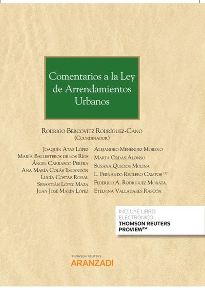COMENTARIOS A LA LEY DE ARRENDAMIENTOS URBANOS.