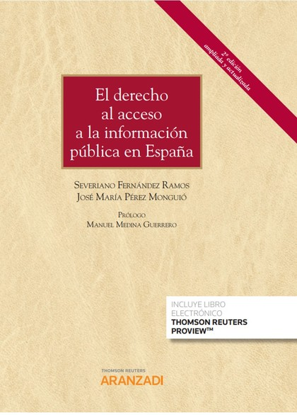 DERECHO AL ACCESO A LA INFORMACION PUBLICA EN ESPAÑA DUO,EL