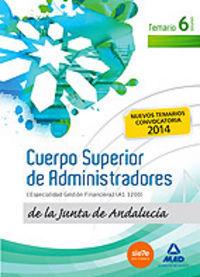 CUERPO SUPERIOR DE ADMINISTRADORES VOL.6 JUNTA ANDALUCIA 2014
