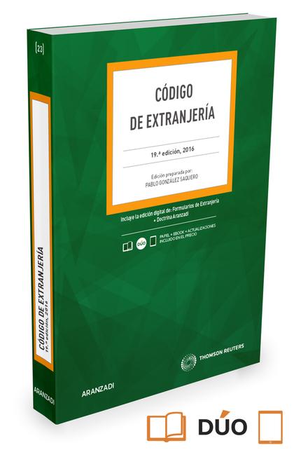 CÓDIGO DE EXTRANJERÍA (PAPEL+E-BOOK).