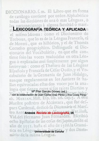 LEXICOGRAFÍA TEÓRICA Y APLICADA