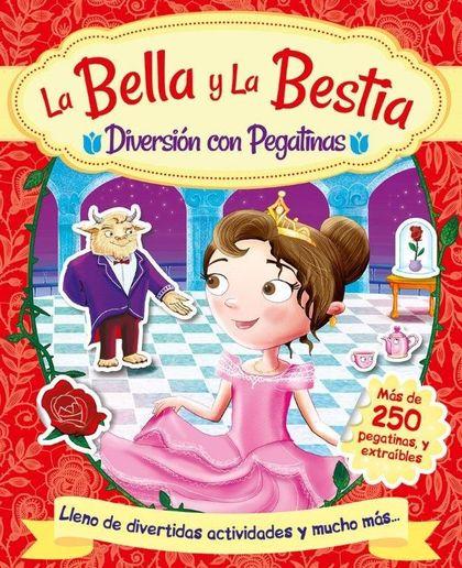 LA BELLA Y LA BESTIA. DIVERSION CON PEGATINAS.