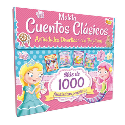 MALETA CUENTOS CLASICOS ACTIVIDADES CON PEGATINAS.