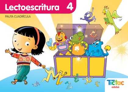PROYECTO TIC-TAC, LECTOESCRITURA, EDUCACIÓN INFANTIL (PAUTA CUADRÍCULA). CUADERNO 4