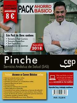 PACK AHORRO BÁSICO.  PINCHE. SERVICIO ANDALUZ DE SALUD (SAS). (INCLUYE TEMARIO Y.