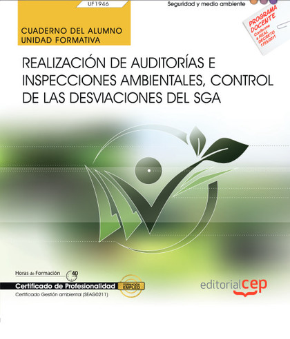 CUADERNO DEL ALUMNO. REALIZACIÓN DE AUDITORÍAS E INSPECCIONES AMBIENTALES, CONTR.