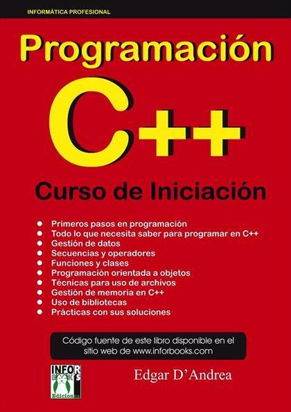 PROGRAMACIÓN C++ CURSO DE INICIACIÓN