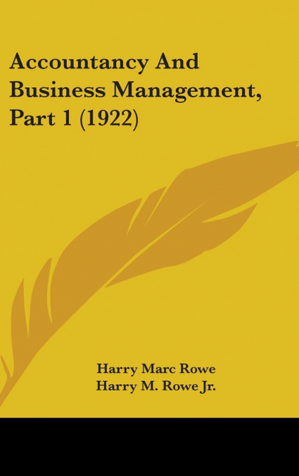 ACCOUNTANCY AND BUSINESS MANAGEMENT, PART 1 (1922)
