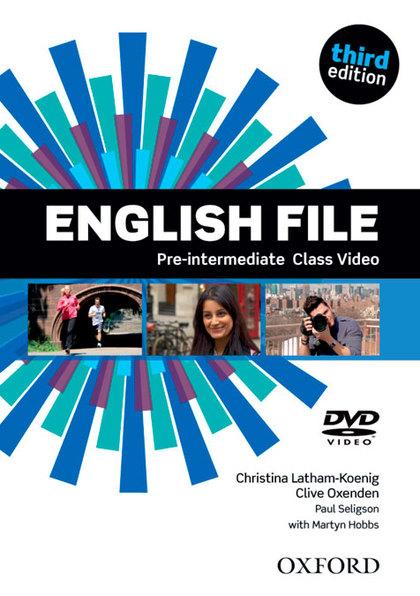 ENGLISH FILE P-INT CLASS DVD 3ED.