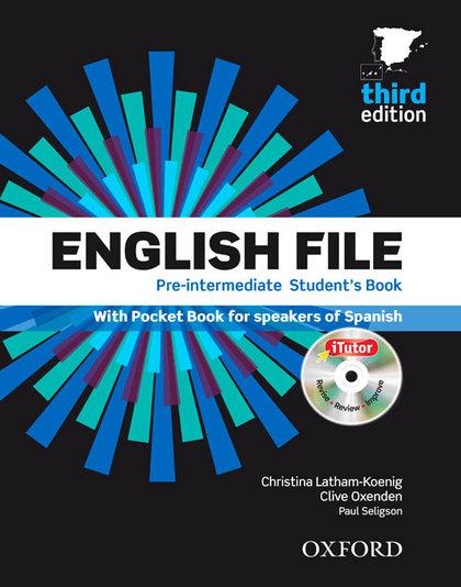 ENGLISH FILE PRE-INTERMEDIATE SB+ITUTOR+PB PACK 3ED