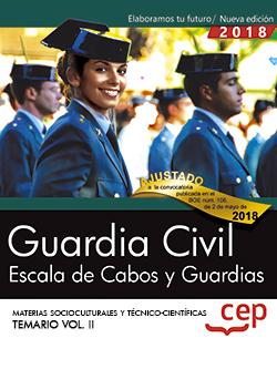 GUARDIA CIVIL. ESCALA DE CABOS Y GUARDIAS. MATERIAS SOCIOCULTURALES Y TÉCNICO-CI
